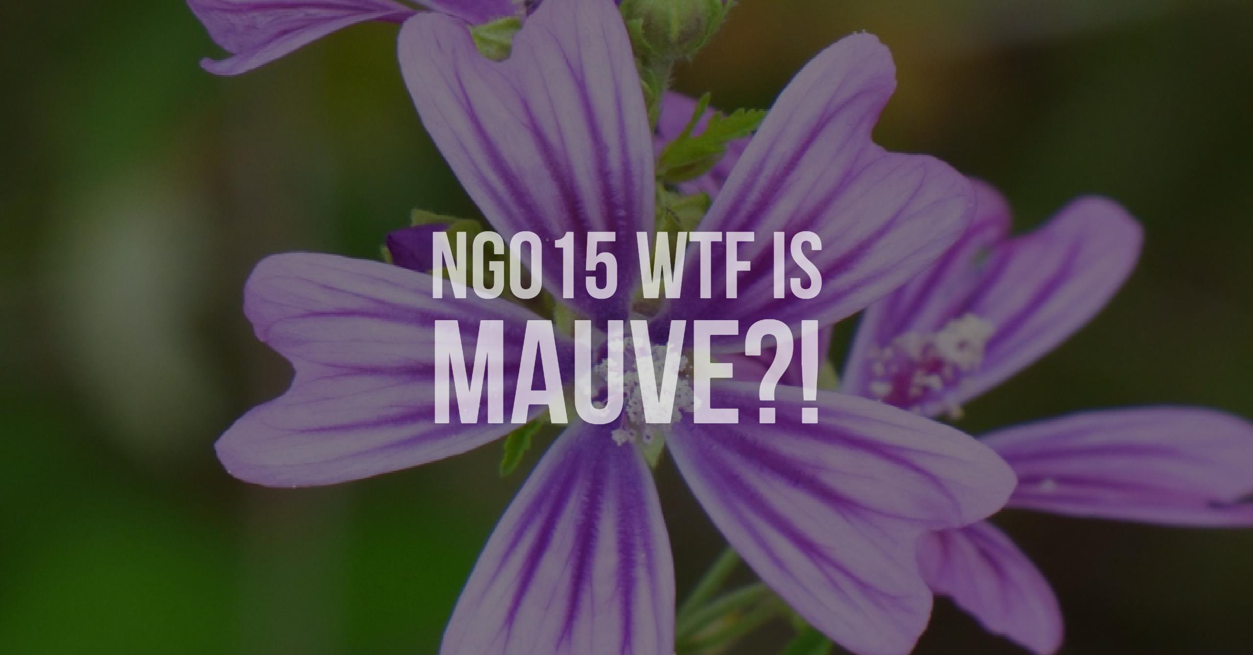 NG015 WTF is mauve?!